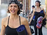 American television host and actress Lisa Rinna goes to a morning pilates class in Sherman Oaks, Ca before the holiday eating begins.