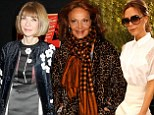 Victoria Beckham, Anna Wintour and Diane von Furstenberg put themselves up for auction, in a bid to raise $185k for Sandy relief