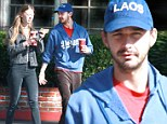 Very cosy! Shia LeBeouf takes Nymphomaniac co-star Mia Goth out for coffee in Los Angeles