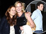 Grey's Anatomy reunion as Kate Walsh and Justin Chambers join Katherine Heigl on night out
