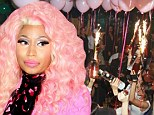 Turned away: Nicki Minaj, pictured in New York on Wednesday, was apparently rejected from her own album release party