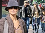 Home for the holidays: After a busy few week on the award show circuit, Heidi Klum treats her kids to a pre-Thanksgiving outing