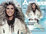 Wild thing! Heidi Klum's locks turn grey as she comes out of the ice-cave sporting crazy hair extensions for the cover of Italian magazine Amica