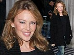 Kylie Minogue at the studios of BBC Radio 2, London