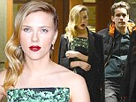 Scarlett's red carpet rendezvous: How new boyfriend waited in the wings at Hitchcock premiere... before whisking her off to dinner