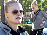 Rock-a-bye baby! Pregnant Malin Akerman shows off tiny bump in gym wear
