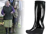 Mud, Ma'am? Wedge wellies make a fashion splash and get Royal seal of approval from Queen's boot-maker (and ballet royalty, too)