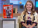 Star athlete: Samantha Gordon, 9, is too fast for boys to catch her on the football field, earning her the nickname Sweet Feet and now the cover of a Wheaties box