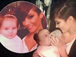 Feeling broody? The Saturdays' Frankie Sandford shows off her maternal side enjoys girly time with Aoife Belle