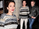 He must know every word of the script! Rhys Ifans leaves theatre with partner Anna Friel after she performs in Uncle Vanya