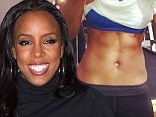 Time to work off all that turkey! Kelly Rowland shows off her impressive six pack, a day after Thanksgiving feast