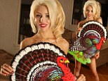 Showing off her giblets! Courtney Stodden poses nude in attempt to persuade people to give up Thanksgiving turkey