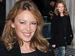 Kylie Minogue at the studios of BBC Radio 2, London