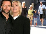 Happy couple: Hugh Jackman and Deborra-Lee Furness, pictured in Sydney last week, have been married for 16 years