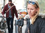 On the move: Naomi Watts packs up and leaves New York one day after returning from shooting commercial in Spain