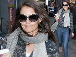 No rest for the wicked! Make-up free Katie Holmes strolls back to Broadway show after attending rehearsals the night before