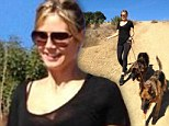 Post-Thanksgiving workout: Heidi Klum burns off the 'turkey and birthday cake' on a hike with her dogs