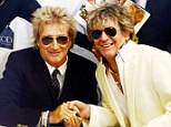 Rod Stewart is greeted by a doppelganger as he sits down to sign copies of his autobiography