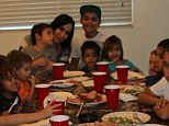 They couldn't find a turkey big enough! Octomom celebrates leaving rehab with slap-up Thanksgiving dinner with family