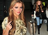 Lucy arrives in Manchester for night out