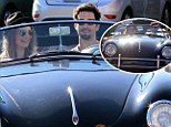 His two loves! Adam Levine takes girlfriend Behati Prinsloo for a spin in his vintage Aston Martin