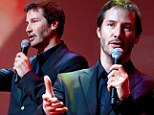 Handsome guy: Keanu Reeves cleaned up and looked sharp in suit and tie at the 20th Plus Camerimage in Poland on Saturday