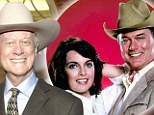 Legend: Dallas star Larry Hagman, pictured (left) in the iconic show with Linda Gray in 1978 and (right) on November 15, has died at the age of 81 after complications with cancer. He was famed for portraying J.R. Ewing on the hit show