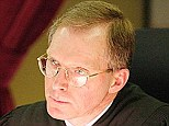 Judge: Justice Jeffrey Hjelm, pictured, was told by Thomas' lawyer: 'This was not his normal conduct.'
