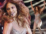 That's one way to spice up a show! Jennifer Lopez brandishes a glittering cane during dance routine at Shanghai concert