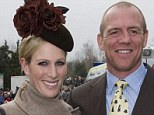 Happy couple: Mike Tindall and Zara Phillips, seen here at the Cheltenham Festival, met in a Sydney bar as he drowned his sorrows