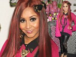She's a working mom now! Reformed party girl Snooki promotes her perfume line... but still shows off her wild side in leather and lace trousers