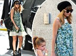 Rock chick no more! Former party girl Nicole Richie sips on healthy juice as she takes Harlow to children's concert