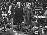 Standing tall: Sexton (right) with Chelsea at the 1970 FA Cup final replay
