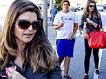 Life is good again: Maria Shriver and her youngest son, Christopher, enjoyed an errand run in Brentwood, California on Saturday