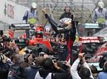 The main man: Sebastian Vettel won his third consecutive Formula One title in thrilling circumstances