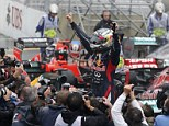 The main man: Sebastian Vettel won his third consecutive Formula One title in thrilling circumstances