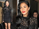 She may have lost the first of her X Factor acts, but Nicole Scherzinger didn't look too upset as she headed out for dinner on Sunday.