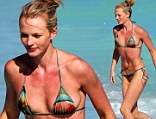 Supermodel Anne V hits the beach on a third day in a row in sunny Miami Beach