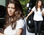 Kourtney Kardashian was sporting some hot leather pants, out and about in Florida on Saturday