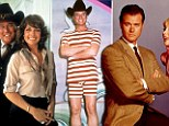 Larry Hagman in Dallas, left, and I Dream of Jeannie, right