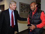 Fancy seeing you here, Thierry: Henry may be in line for a third stint at Arsenal