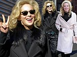 Hit and miss: Sharon Stone swaps tacky costume on the set of Fading Gigolo with chic pink coat
