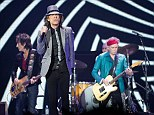 Show: Sir Mick, front, with Ronnie Wood, left, and Keith Richards, right