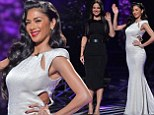 It's all about enhancing those curves! Nicole Scherzinger oozes glamour in figure-hugging gown as Tulisa Contostavlos nips in her waist on the X Factor