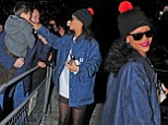 Fan gets a kiss on the cheek from Rihanna