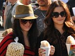 Enjoying sisterhood! Ariel Winter has a ball at farmers' market with Shanelle Grey