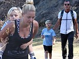 At least he won't get lonely! Gavin Rossdale invites his sons' hot nanny on early morning hike with Kingston and Zuma