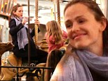 Kid at heart: Jennifer Garner has even more fun than her daughters at New Orleans carnival