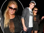 Paris Hilton takes the plunge in see-through mini-dress on date with her Spanish toyboy