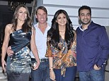 Especially for you: Shilpa Shetty and husband Raj Kundra hosted a dinner party in their mansion for Elizabeth Hurley and Shane Warne